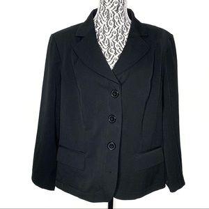 Lane Bryant black blazer 3 buttons size 18w / 20w